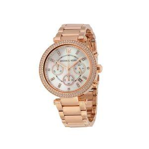 Michael Kors Rose Gold Parker Chronograph Watch